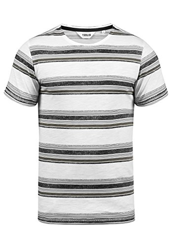 !Solid Sid Herren T-Shirt Kurzarm Shirt Streifenshirt Mit Streifen Und Rundhalsausschnitt 100% Baumwolle, Größe:L, Farbe:Black (9000)