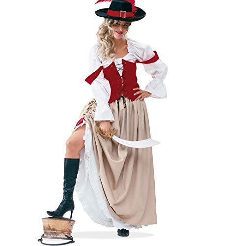 KarnevalsTeufel Piratin Damenkostüm Piratenbraut, 2-TLG. Rock mit Weste, Pirat, Seeräuberin, Freibeuterin, Piratenbraut, Captain (38)
