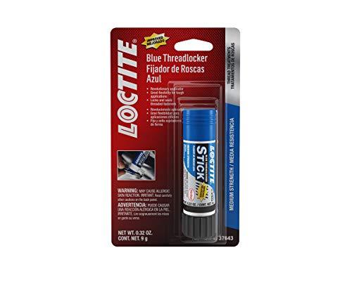 Loctite 506166 All-Purpose Medium Strength Anaerobic Threadlocker Stick, Blue, 9-Gram