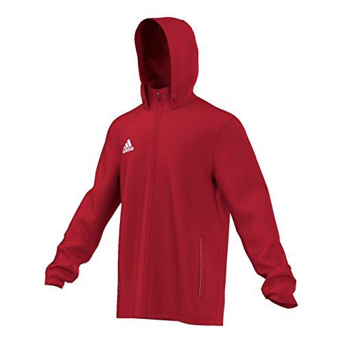 adidas COREF RAI - Chaqueta deportiva para hombre, color rojo/ blanco, talla L