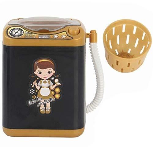 ZIRAN Limpiador de brochas Maquillaje eléctrico Spinner Machine - Mini Lavadora electrónica Forma automático Seca Brochas Limpieza Profunda Esponja Puff Tiktok Toy Doll Accesorios