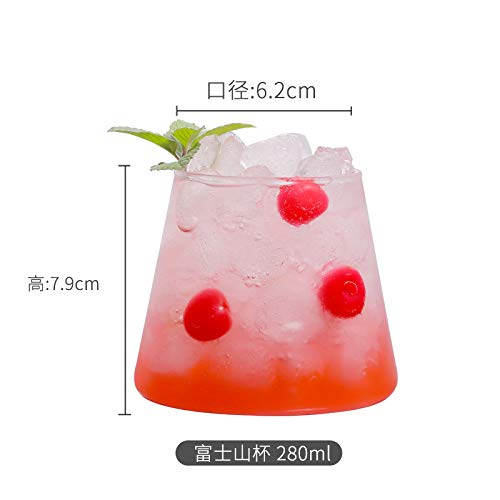 Glaseres Wassergläser Netto Rot Fuji Mountain Cup Europäischen Ins Cocktail Cup Whisky Cup Kreative Transparente Juice Cup Trinkbecher