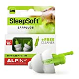 Alpine SleepSoft Sleep Ear Plugs – Reduce Noises and Improve Sleeping - Ultra Soft for Side and Light Sleepers - Hypoallergenic Reusable Filter Earplugs