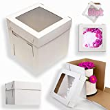 ◈◈【 GREAT VALUE FOR BAKERS 】: Well differentiated with 60 cake boxes 10x10x12 inch in bulk, our pack of disposable dessert boxes is perfectly able to handle the bulk needs of a professional baker with customers looking to have their orders on the go,...
