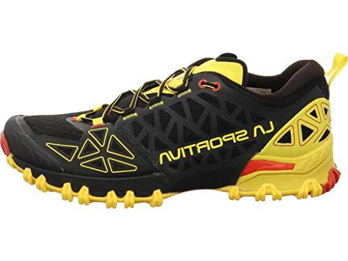 LA SPORTIVA Bushido II, Zapatillas de Trail Running Hombre, Black/Yellow, 43 EU