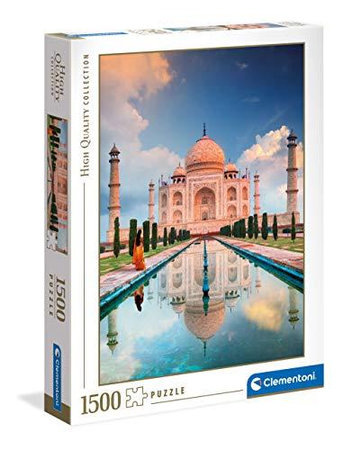 Clementoni Taj Mahal-1500 pièces-Puzzle Adulte-fabriqué en Italie, 31818, No Color