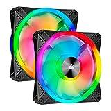 Corsair iCUE QL140 RGB 140mm 2連ファンキット PWM対応 PCケースファン CO-9050100-WW FN1376