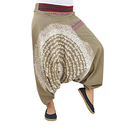 virblatt Pantalones Hombre Chandal cagados Pantalones de harén Bombachos Hombre BK LXL