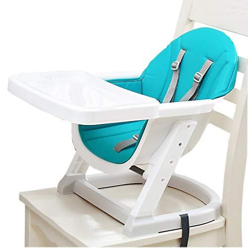 YULAN Silla de Comedor para niños Mesa de bebé Multifuncional Mesa de Comer para bebé Silla con Respaldo portátil Asiento de bebé Taburete (Color : Blue)