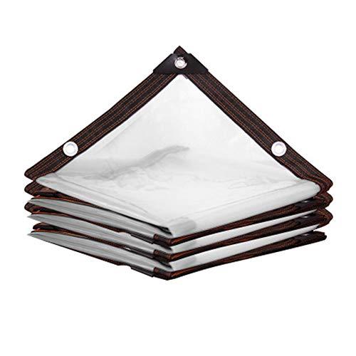 Lona transparente impermeable con ojales Toldos y lonas Lona transparente resistente a la intemperie Toldo plegable para plantas Cubierta a prueba de lluvia Cuerda incluida(Size:3x4M)