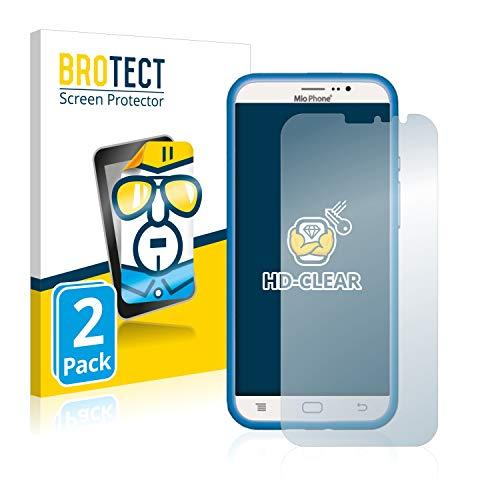 BROTECT Schutzfolie kompatibel mit Lisciani Giochi Mio Phone (2017) (2 Stück) klare Bildschirmschutz-Folie