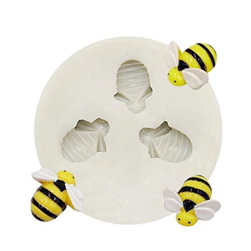 Molde de silicona con forma de panal de abejas, herramienta de decoración de tortas con fondant de helado, molde Sugarcraft, herramienta para hornear Chocolate para pastel, forma de pasta de goma