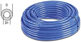 Armorthane Spiral AT-14-10-CB-RS Polyurethane Spiral Hose Clear Blue 10 Length//8 Working Length 1//4 NPT Male ATP 1//4 ID x 3//8 OD