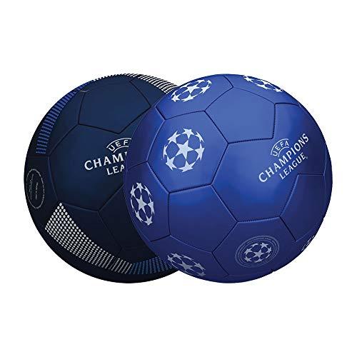 Mondo UEFA Champions League - Balón de fútbol para Hombre, Talla 5, 400 g, Color Blanco/Negro/Azul, 13847