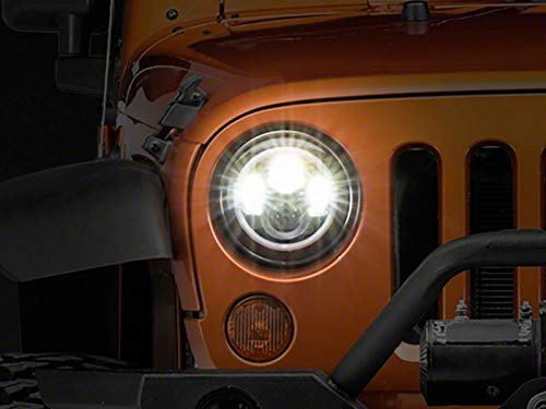 Axial LED Halo Headlights with DRL & Amber Turn Signals Fits Jeep Wrangler TJ & JK 1997-2018