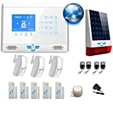 ITALIAN ALARM KIT Anti-vol sans Fil pour Maison Connection Model 2020 avec Connection...