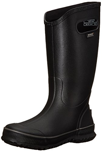 Bogs Men's Waterproof Rubber Rain Boot, Black, 11 D(M) US