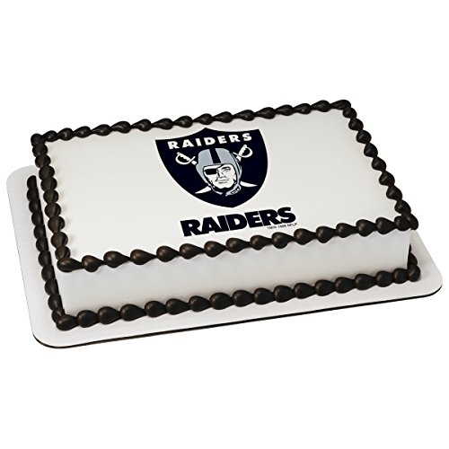 NFL Oakland Raiders Licensed Edible Sheet Cake Topper #4579