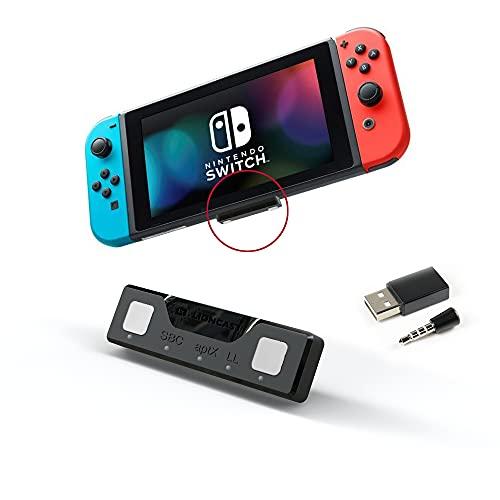 Adaptador Bluetooth para Nintendo Switch Lioncast | Accesorios Nintendo Switch Bluetooth Dongle Aptx Cascos Nintendo Switch | Nintendo Switch/Switch Lite Play 5, PS4, Mac y PC |Rango 10m Bluetooth 5.0