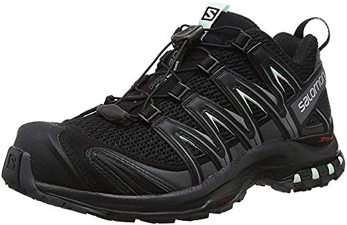 Salomon XA Pro 3D W Zapatillas de trail running Mujer, Negro (Black/Magnet/Fair Aqua), 38 2/3 EU (5.5 UK)