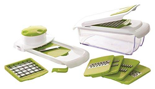 Jocca Multipicadora 7 en 1, Acero Inoxidable, Blanco y Verde, 11.5 cm