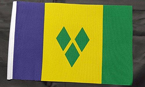 NWFlags Mini ST Vincent et drapeau de Saint-Vincent-et-les-Grenadines – (22,9 x 15,2 cm) environ 22 cm x 15 cm Polyester avec manchon
