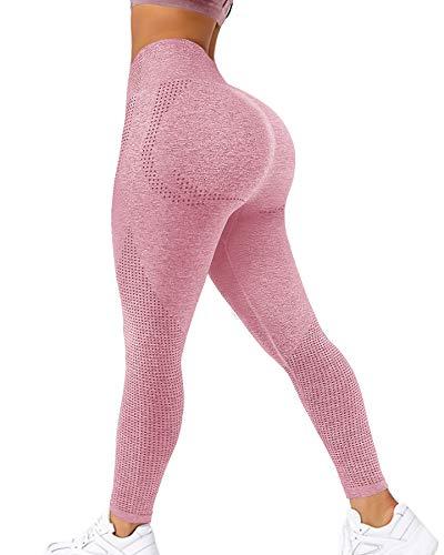Murandick Seamless Workout Tiktok Leggings for Women High Waisted Yoga Pants Butt Lifting Gymshark Tights