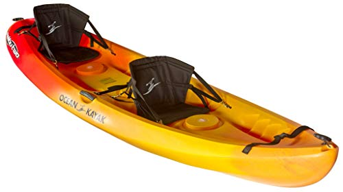 Ocean Kayak Malibu Two Tandem Sit-On-Top Recreational Kayak (Sunrise, 12-Feet)