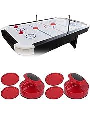 Boquite Presente romántico Juego de empujadores, Accesorio de Hockey de Mesa de 185 g, empujadores de Hockey de Mesa de Gran tamaño, con Juego de empujadores de Hockey de Mesa de 4 Discos, diseño e