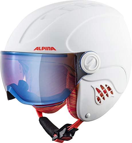 ALPINA CARAT LE VISOR Skihelm, Kinder, white-flamingo matt, 51-55