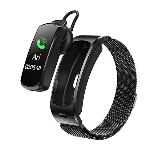 OH Smart Watch, Auriculares Bluetooth Deportes Paso Contador Pulsera de Dos en Uno, Mensaje de Monitoreo de Salud Del Sueño Pulsera Inteligente Pulsera Regalo de vacaciones/Milan