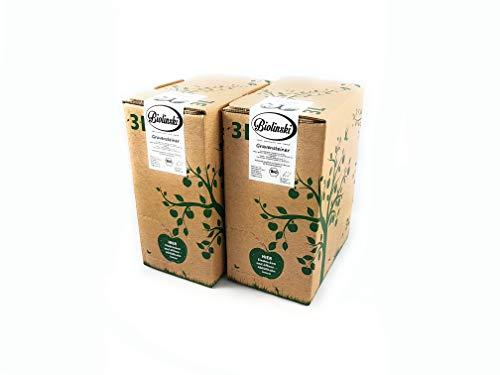 Biolinski Gravensteiner sortenrein, seltener BIO Apfelsaft, naturtrüb, vegan, 100% Direktsaft | 2er Pack (2 x 3 Liter, Bag-In-Box mit Zapfhahn)