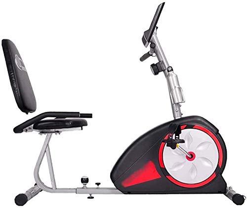 Bicicleta estática Recumbent para interiores con asiento ajustable y prueba de frecuencia cardíaca y pedal antideslizante