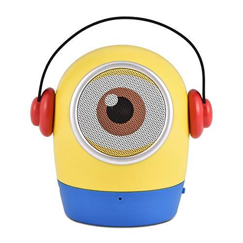AMONIDA Mini Tragbare Cartoon Puppe Bluetooth-Lautsprecher Musik-Player Lautsprecher, 10-15 M, Minion Puppenform