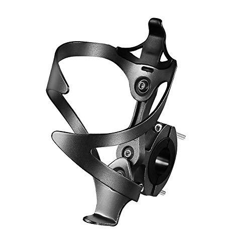 HONZUEN Portabidon Bicicleta, Portabidones Ajustable para Bicicleta de Aleación de Aluminio con Adaptador para Portabotellas, Adecuado para Bicicleta, Bicicleta de Carretera, Bicicletas de Montaña