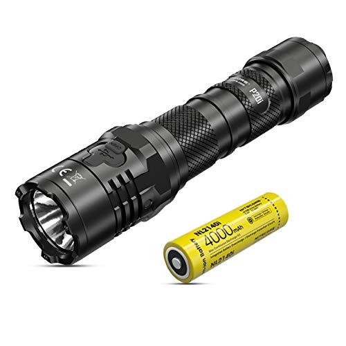 NITECORE P20i Linterna Tactica Militar – 1800 Lumenes Linterna LED Alta Potencia Recargable USB C ([ Bateria Li-Ion 21700i Incluida ])