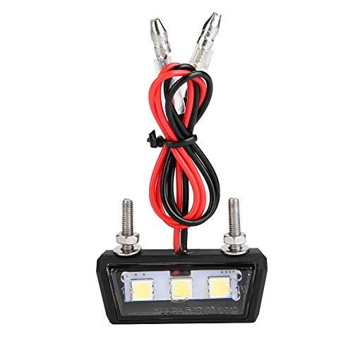 Luz de placa LED para moto