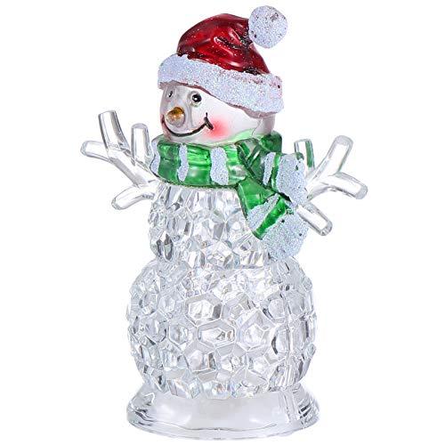 CLISPEED Enfeite de Boneco de Neve de Cristal Natal de Vidro Bolas de Neve Boneco de Neve Estatueta Feriado Bola de Brilho Brinquedos Decoração de Mesa de Árvore de Natal