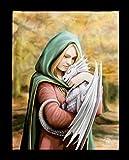 Unbekannt Fantasy-Bild Hada con Baby-Drache sobre Lienzo Impreso - Safe Haven Mural, Motivo Von Anne Stokes, 19x25 Cm
