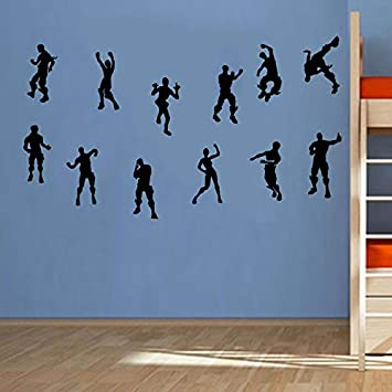 AIYANG Game Wall Stickers Gamer Vinyl Wall Decal Kids Boys Girls Teens Playroom Game Room Home Decor Black