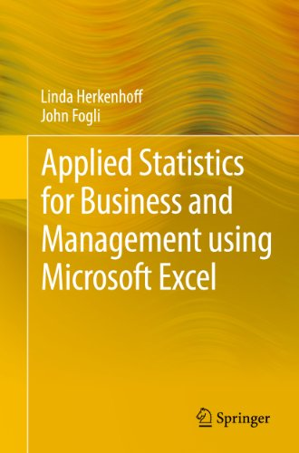 Applied Statistics for Business and Management using Microsoft Excel (English Edition)