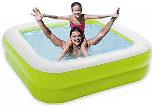 TFACR Cuadrada Inflable Baby Kids Piscina Infantil Piscina Bañera para niños pequeños 33.5' x 33.5' x 9',Verde