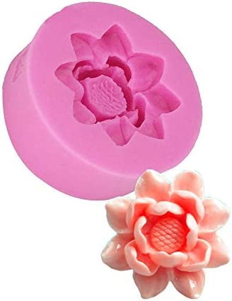 3D Flower Lotus Silicone Mold for DIY Cupcake Cake Topper Decoration Jelly Shots Fondant Mold product image