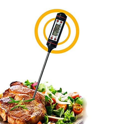 Digitales Fleischthermometer Grillthermometer Haushaltsthermometer Kochthermometer Roasting Thermometer with LCD Screen for Roasting BBQ Fleisch Grill Milch Wasser etc