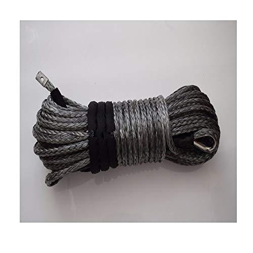 Zhaolan-Digital Tester Grau 12mm * 30m Synthetic Winch Seil, Seilwinde, Ersatz Kunststoffseil for Winch Autozubehör Autoteile (Color : Gray)
