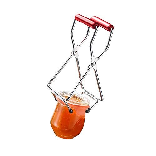 Westmark Konserven-/Einmachglas-Heber, für Glasdurchmesser bis 18 cm, Verchromter Stahl/Kunststoff, Silber/Rot, 10532270