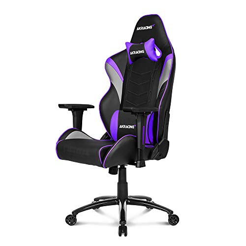 AKRacing Core Series LX Gaming Chair with High Backrest, Recliner, Swivel, Tilt, Rocker and Seat Height Adjustment Mechanisms with 5/10 Warranty - Indigo chair gaming