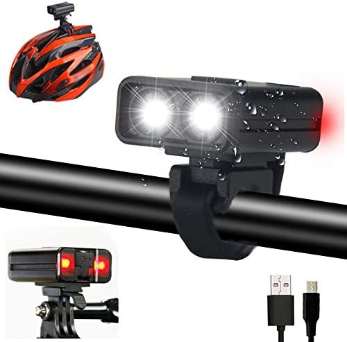 Mini Lightweight Bicycle Helmet Light Compatible with GoPro Mounts 200 lumens 2 hours Safety product image