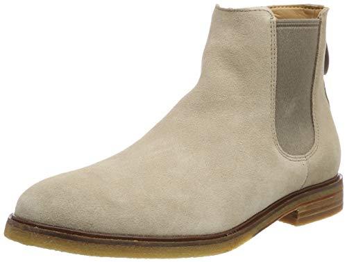 Clarks Herren Clarkdale Gobi Chelsea Boots, Beige (Sand Suede), 44.5 EU