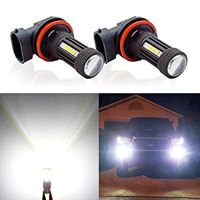 H11 H8 H9 LED Fog Light Bulbs 6000K,New Design 3000 Lumens 360° Beam Angle White Fog Lights Bulbs Lamp Super Bright DRL and Lifetime Support(Set of 2)